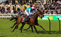 Purser ridden by jockey Frankie Dettori (left) beats Symbolization ridden by jockey William Buick in the British EBF bet365 Conditions Stakes during day one of The Bet365 Craven Meeting at Newmarket Racecourse, Newmarket.