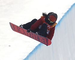February 12, 2018 - Pyeongchang, KOREA - Mercedes Nicoll (CAN) competes in run two in the ladies halfpipe qualification during the Pyeongchang 2018 Olympic Winter Games at Phoenix Snow Park. (Credit Image: © David McIntyre via ZUMA Wire)