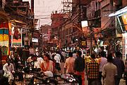 Delhi, India, the main bazaar street