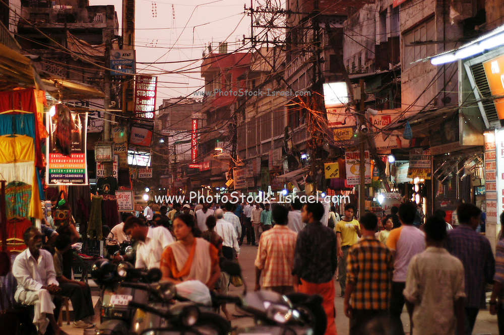 Delhi, India, the main bazaar street