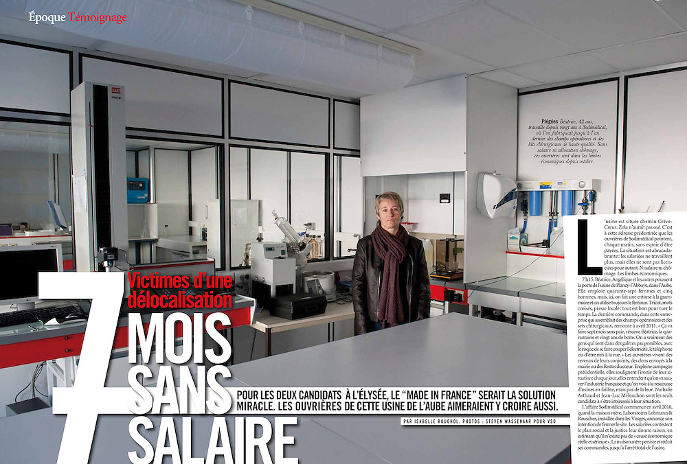 Self Financed. Workers refuse to accept the loss of jobs, continue to be present in their vacant factory, but have not been paid since 7 months. (France)