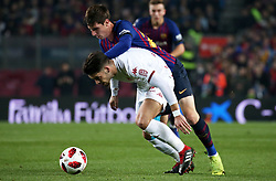 December 5, 2018 - Barcelona, Spain - Juan Miranda during the match between FC Barcelona and Cultural Leonesa, corresponding to the 1/16 final of the spanish King Cuo, played at the Camp Nou Stadium on 05th December 2018 in Barcelona, Spain. Photo: Joan Valls/Urbanandsport /NurPhoto. (Credit Image: © Joan Valls/NurPhoto via ZUMA Press)