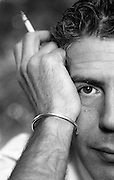 Famous chef, turned TV personality, Anthony Bourdain. Bourdain was a delight to photograph - accommodating, approachable, witty and a heavy smoker. Every image included a cigarette!