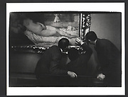 Gallery Attendants in front of Titian, Uffizi Art Gallery, Florence, Italy 1976, Exhibition in a Box