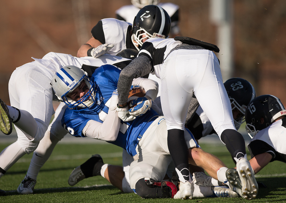 Ryder Arsenault, of Colby College, during a NCAA Division III football game on November 8, 2014 in Waterville, ME. (Dustin Satloff/Colby College Athletics)