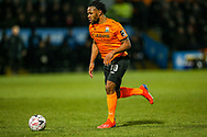 Barnet forward Shaquile Coulthirst (10) on the ball during the The FA Cup fourth round match between Barnet and Brentford at The Hive Stadium, London, England on 28 January 2019.