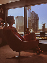 """Coco Rocha releases a photo on Twitter with the following caption: """"""""The best part of a little jet lag is watching the sun rise. #Beijing #China 🇨🇳"""""""". Photo Credit: Twitter *** No USA Distribution *** For Editorial Use Only *** Not to be Published in Books or Photo Books ***  Please note: Fees charged by the agency are for the agency's services only, and do not, nor are they intended to, convey to the user any ownership of Copyright or License in the material. The agency does not claim any ownership including but not limited to Copyright or License in the attached material. By publishing this material you expressly agree to indemnify and to hold the agency and its directors, shareholders and employees harmless from any loss, claims, damages, demands, expenses (including legal fees), or any causes of action or allegation against the agency arising out of or connected in any way with publication of the material."""
