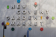 Exterior of New Covent Garden in Nine Elms, Battersea, on 13th November 2020, in London, England. New Covent Garden Market is the largest wholesale fruit, vegetable and flower market in the United Kingdom.