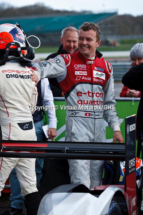 The winner, Audi Sport Team Joest, Audi R18 e-tron quattro #7 Marcel Fässler after the FIAWEC 6 Hours of Silverstone 2015