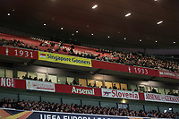 Football - 2019 / 2020 UEFA Europa League - Group F:Arsenal vs. Eintracht Frankfurt<br /> <br /> Empty seats at the clock end in the The Emirates.<br /> <br /> COLORSPORT/DANIEL BEARHAM