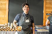 Bean (Bush), Phaseolus vulgaris<br /> Showcase: 'Jacob's Cattle' Bush Bean<br /> Researcher: Kristen Loria, Cornell University<br /> Chef: Stacey Givens, The Side Yard Farm & Kitchen