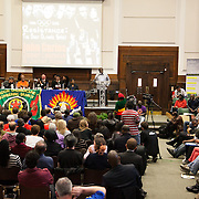 Weyman Bennett from Joint Secretary Unite Against Fascism. Resistance: The best Olympic Spirit. With John Carlos, Doreen Lawrence, Janet Alder and others.