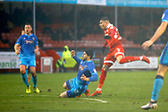 Crawley Town forward Karlan Ahearne-Grant scores a goal (score 2-0) during the EFL Sky Bet League 2 match between Crawley Town and Grimsby Town FC at the Checkatrade.com Stadium, Crawley, England on 10 February 2018. Picture by Andy Walter.