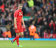 Disappointed Rickie Lambert of Liverpool  - Barclays Premier League - Liverpool vs Chelsea - Anfield Stadium - Liverpool - England - 8th November 2014  - Picture Simon Bellis/Sportimage