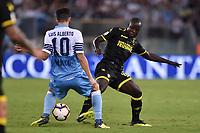 Luis Alberto Lazio, Chibsah Frosinone.<br /> Roma 02-09-2018 Stadio Olimpico Calcio Serie A 2018/2019 Lazio - Frosinone<br /> Foto Antonietta Baldassarre/ Insidefoto