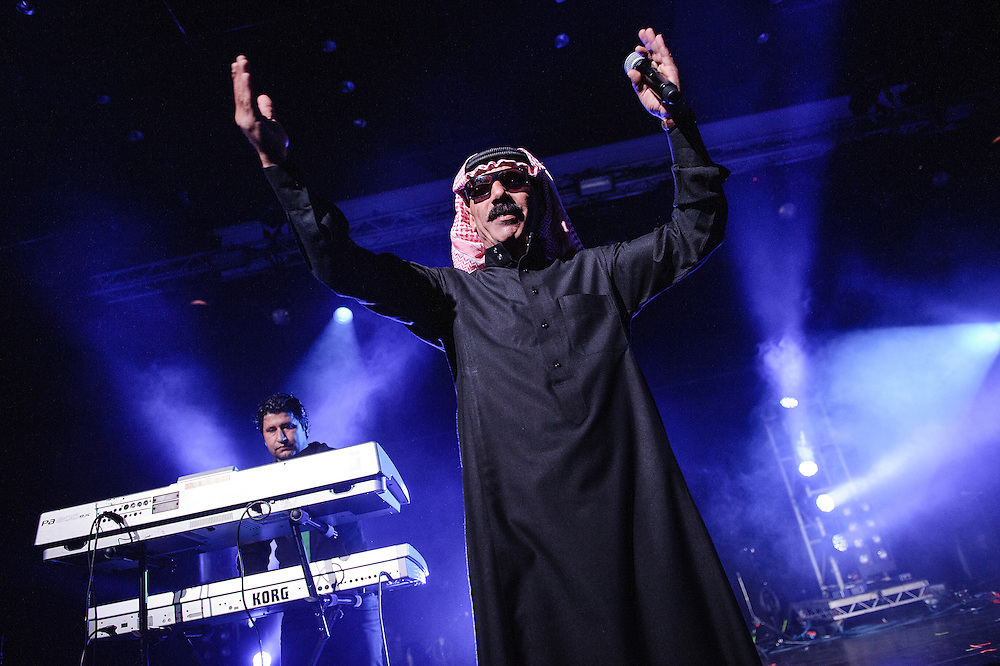 Photos of the musician Omar Souleyman performing live at Harpa during Iceland Airwaves Music Festival in Reykjavik, Iceland. November 1, 2013. Copyright © 2013 Matthew Eisman. All Rights Reserved