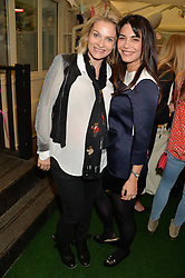 Left to right, EMMA O'BYRNE and LOHRALEE ASTOR at a ladies Valentine's Breakfast to launch the new healthy food menu at royal favourite restaurant Bumpkin, 119 Sydney Street, London on 14th February 2014.