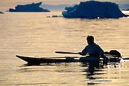 Inuit Narwhal hunter Gedion Kristiansen Qaanaaq, NW Greenland