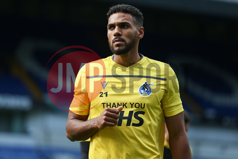 Jonah Ayunga of Bristol Rovers during the warm up - Mandatory by-line: Arron Gent/JMP - 05/09/2020 - FOOTBALL - Portman Road - Ipswich, England - Ipswich Town v Bristol Rovers - Carabao Cup