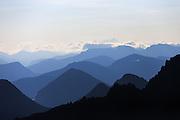 This picture of the Sunnmøre Alps, located in Norway, was captured  early morning over the edge of the mountain Råna, 1586 meter over the ocean   Dette bildet fra Sunnmørsalpene vart tatt tidlig en morgen over kanten på fjellet Råna, som ligger 1586 moh.