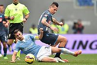 Stefan Radu Lazio, Marek Hamsik Napoli <br /> Roma 18-01-2015 Stadio Olimpico, Football Calcio Serie A Lazio - Napoli. Foto Andrea Staccioli / Insidefoto