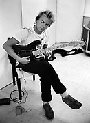Sting The Police  backstage London 1982