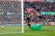 Danny Ings scores the second goal of the game for Burnley - Football - Barclays Premier League - Stoke City vs Burnley - Britannia Stadium Stoke - Season 2014/2015 - 22nd November 2015 - Photo Malcolm Couzens /Sportimage