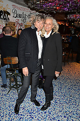 LAURENCE & MICHELE RONSON at a party to celebrate the first anniversary of SushiSamba at the Heron Tower, 110 Bishopsgate, London EC4 on 12th November 2013.