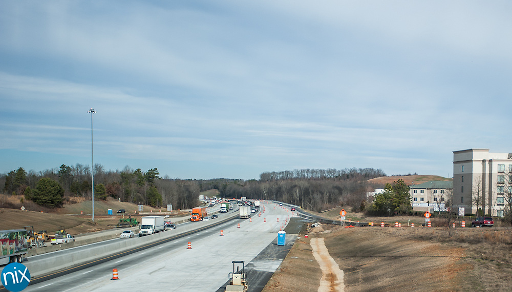 Work is nearly complete on the initial phase of the Interstate 85 widening project.