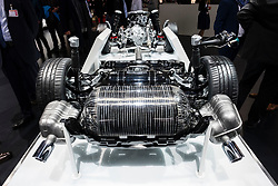 Audi G-Tron gas powered powertrain at 87th Geneva International Motor Show in Geneva Switzerland 2017