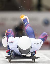 18.02.2016, Olympiaeisbahn Igls, Innsbruck, AUT, FIBT WM, Bob und Skeleton, Herren, Skeleton, 2. Lauf, im Bild Matthew Antoine (USA) // Matthew Antoine of the USA competes during men's Skeleton 2nd run of FIBT Bobsleigh and Skeleton World Championships at the Olympiaeisbahn Igls in Innsbruck, Austria on 2016/02/18. EXPA Pictures © 2016, PhotoCredit: EXPA/ Johann Groder