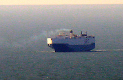 Friday 24th February 2017. Isle of Wight  US Cargo Ship Catches Fire in the English Channel<br /> <br /> The UK Coastguard  are coordinating incident involving fire on car carrier in the English Channel<br /> At around 3:45am today (Friday 24 February 2017) UK Coastguard was notified of a fire on board the US car carrier 'Honor' in the English Channel whilst it was on route to Baltimore from Southampton.<br /> <br /> The vessel's fixed firefighting systems were used to attack the fire and the cargo space has been sealed.  The ship's crew continue to monitor the cargo area.<br /> <br /> The ship has full manoeuvrability and has turned back towards Southampton, where it is planned to anchor to the South East of the Isle of Wight.<br /> <br /> UK Coastguard is monitoring the situation closely and the Hampshire Fire and Rescue Service has been notified of the incident.<br /> <br /> <br /> <br /> <br /> Andy Jenkins, Commander for the UK Coastguard said: 'The 21 crew are still on board the vessel and they are safe and well. We will continue to monitor the situation and provide updates as it develops.' ©UKNIP