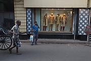 Rickshaw wallah in the Sudder Street shopping area of Calcutta (Kolkata)