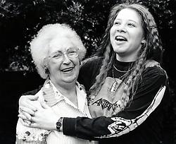 Carer & elderly woman Nottingham UK 1991