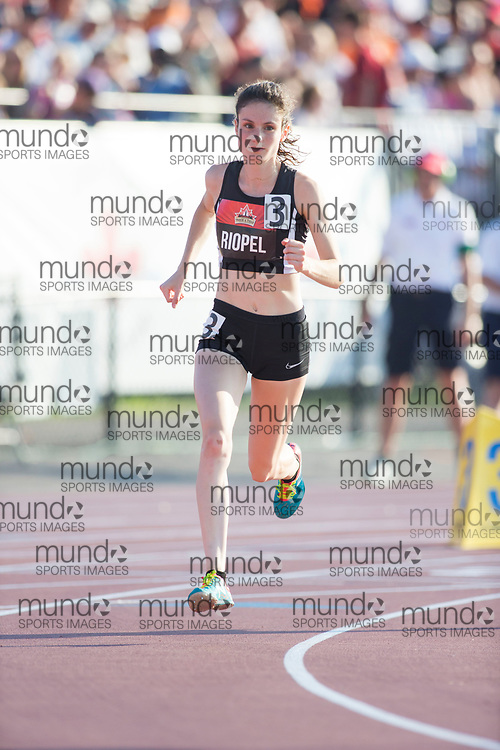 (Ottawa, Canada---06 July 2017) Camille Riopel running in the 800m qualifying race at the 2017 Canadian Track and Field Championships. (Photo by Sean W Burges / Mundo Sport Images).
