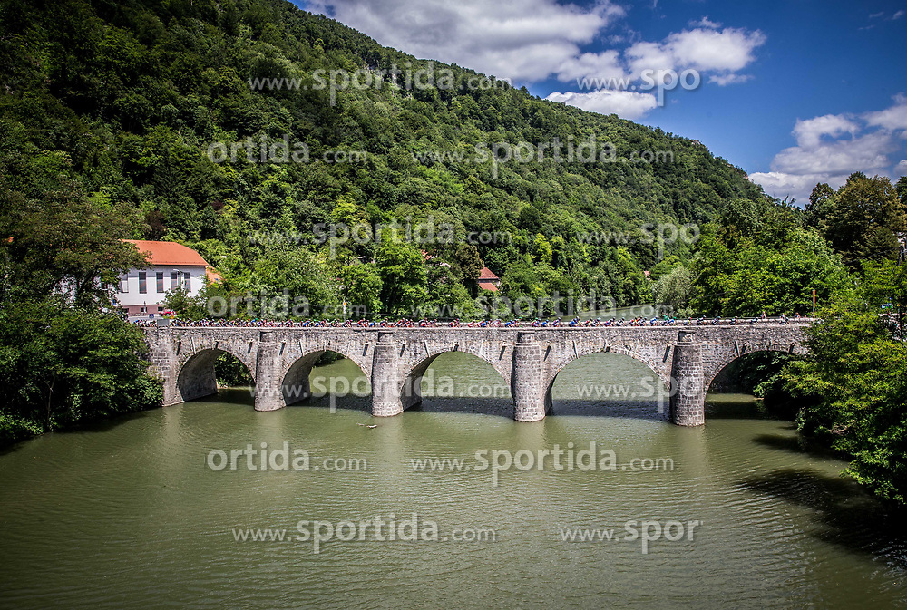 Peloton in Zidani most during last Stage 4 of 24th Tour of Slovenia 2017 / Tour de Slovenie from Rogaska Slatina to Novo mesto (158,2 km) cycling race on June 18, 2017 in Slovenia. Photo by Vid Ponikvar / Sportida