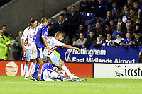 Photo: Pete Lorence.<br />Leicester City v Aston Villa. Carling Cup. 24/10/2006.<br />Villa's Gabriel Agbonlahor fires in the winning goal.