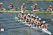 Lucerne, SWITZERLAND.  CAN W8+ at the start for their heat of the Women's Eights.  2012 FISA World Cup II, Lucerne Regatta.  Rotsee  Rowing Course,  Friday  25/05/2012    [Mandatory Credit Peter Spurrier/ Intersport Images]