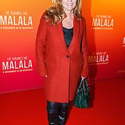 NLD/Hilversum/20151101 - Prinses Mabel aanwezig bij de Premiere He Named Me Malala, Angela Groothuizen