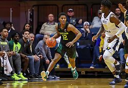 Jan 21, 2019; Morgantown, WV, USA; Baylor Bears guard Jared Butler (12) dribbles the ball up the floor during the first half against the West Virginia Mountaineers at WVU Coliseum. Mandatory Credit: Ben Queen-USA TODAY Sports