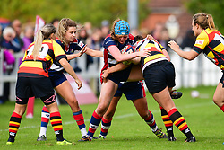 Abbie Fleming of Bristol Ladies is tackled by Alicia McCormish of Richmond ladies - Mandatory by-line: Craig Thomas/JMP - 17/09/2017 - Rugby - Cleve Rugby Ground  - Bristol, England - Bristol Ladies  v Richmond Ladies - Women's Premier 15s