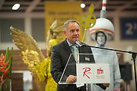 DEU, Deutschland, Germany, Berlin, 02.10.2011:<br />Rainer Schwarz, Geschäftsführer des Flughafens Berlin-Brandenburg (BER) Willy Brandt, während einer Rede auf der Luftfahrt-Messe World Route Development Forum.