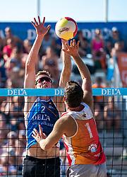 25-08-2019 NED: DELA NK Beach Volleyball, Scheveningen<br /> Last day NK Beachvolleyball / Dirk Boehlé #1, Christiaan Varenhorst #2