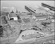 """Ackroyd 11580-1 """"General Construction Co."""" (4850 NW Front, in-between Shaver and Gunderson.)<br /> Aerials. March 16, 1963"""""""