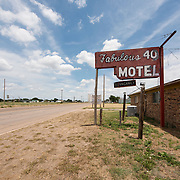 Fabulous 40 Shuttered Motel on Route 66 in Adrian, Texas