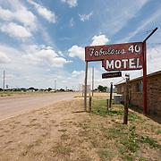 Fabulous 40 Shuttered Motel on Route 66 in Adrian, Texas