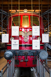 German Reich nazi era train on display at German Museum of Technology in Berlin, Germany
