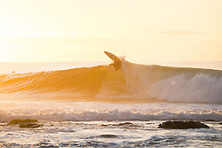 July 12, 2017 - Owen Wright of Australia appears to be very happy returning to Jeffreys Bay and getting in a morning freesurf at Supertuebs during the first layday of the Corona Open J-Bay...Corona Open J-Bay, Eastern Cape, South Africa - 12 Jul 2017. (Credit Image: © Rex Shutterstock via ZUMA Press)