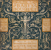 Illustrated cover From the Book ' The baby's bouquet : a fresh bunch of old rhymes & tunes ' by Crane, Walter, 1845-1915; Crane, Lucy, 1842-1882; Evans, Edmund, 1826-1905; Publisher  George Routledge and Sons (London and New York) 1878