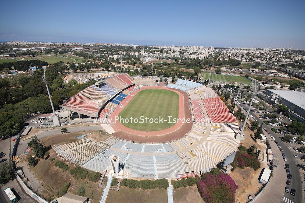 Aerial view of the Ramat Gan Sports Stadium it serves as the National stadium